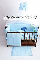 Постельный комплект в детскую кроватку Радуга Аппликация