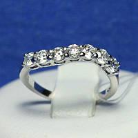 Кольцо с цирконием из серебра 4819-р, фото 1