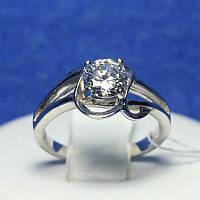Серебряное кольцо с белым камнем 4822-р, фото 1