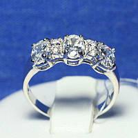 Серебряное кольцо с цирконием Роксана 4826-р, фото 1