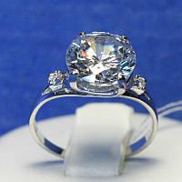 Серебряное кольцо с большим камнем Леди 4926-р