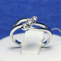 Срібне кільце з цирконом, тоненьке 4968-р, фото 1