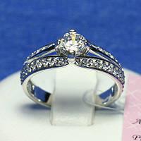 Эксклюзивное серебряное кольцо с цирконием 10046-с-р, фото 1