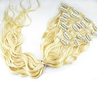 Набор вьющихся волос на клипсах 70 см. Оттенок №613. Масса: 150 грамм.