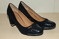 Туфли синие на каблуке 36-41 р