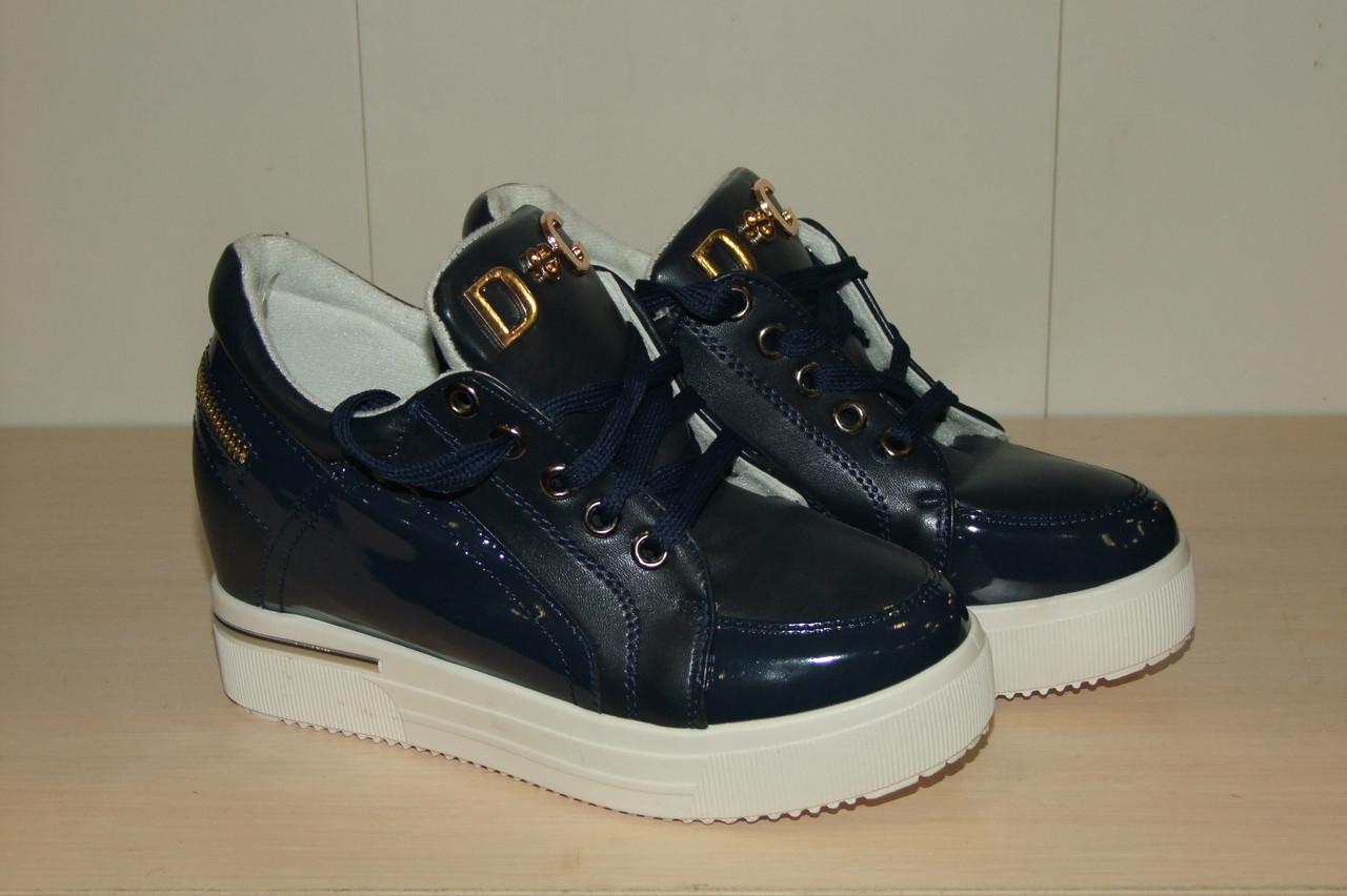 Жіночі черевики сині 36-41 р