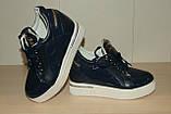 Жіночі черевики сині 36-41 р, фото 3