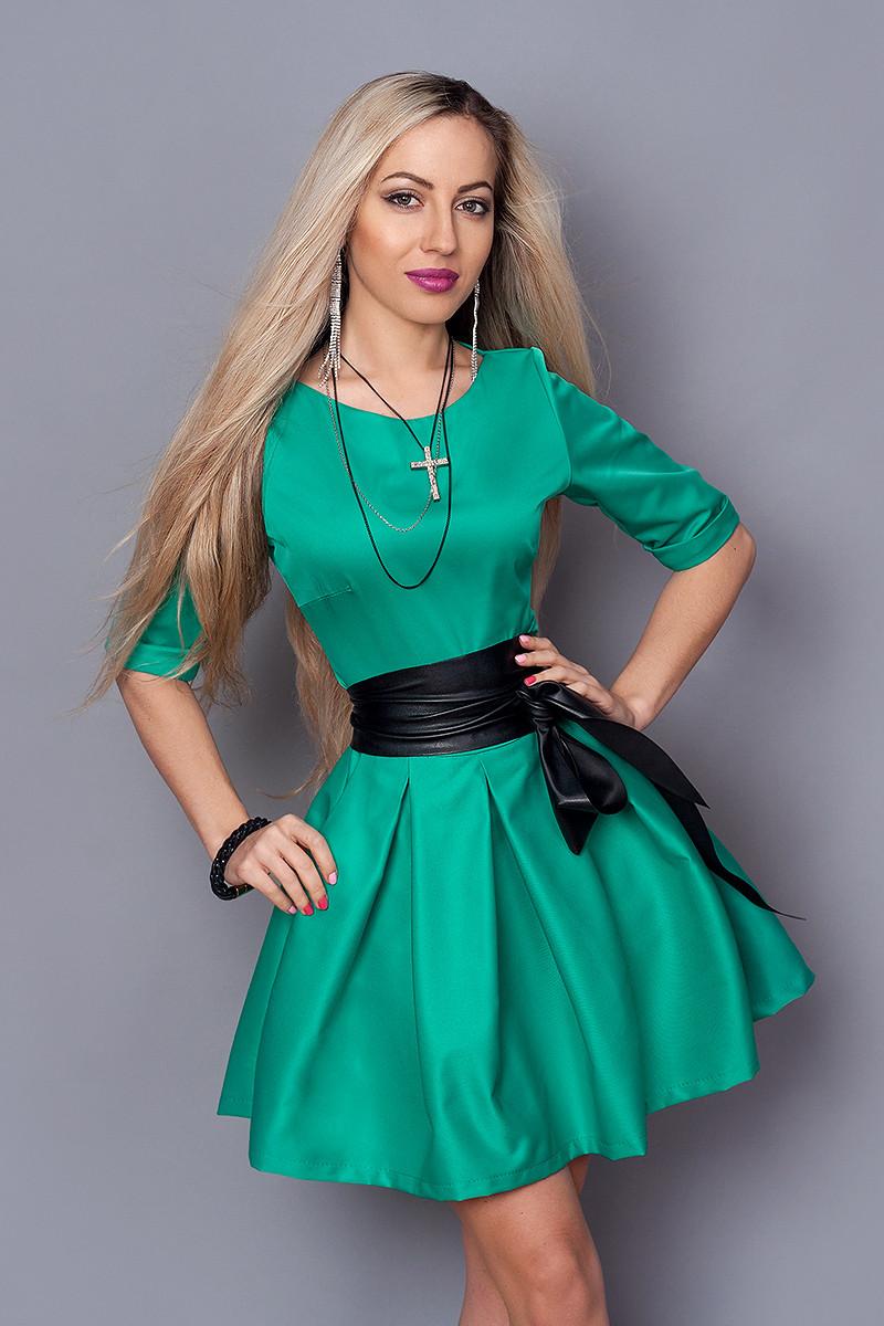Платье  мод 373-5 размер 44 ,46 бирюза