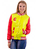 "Демисезонная желто-красная куртка ""Бритни"", фото 1"