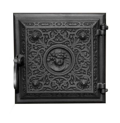Чугунная печная дверца - Dunántúl 24 х 24 см/22 х22 см