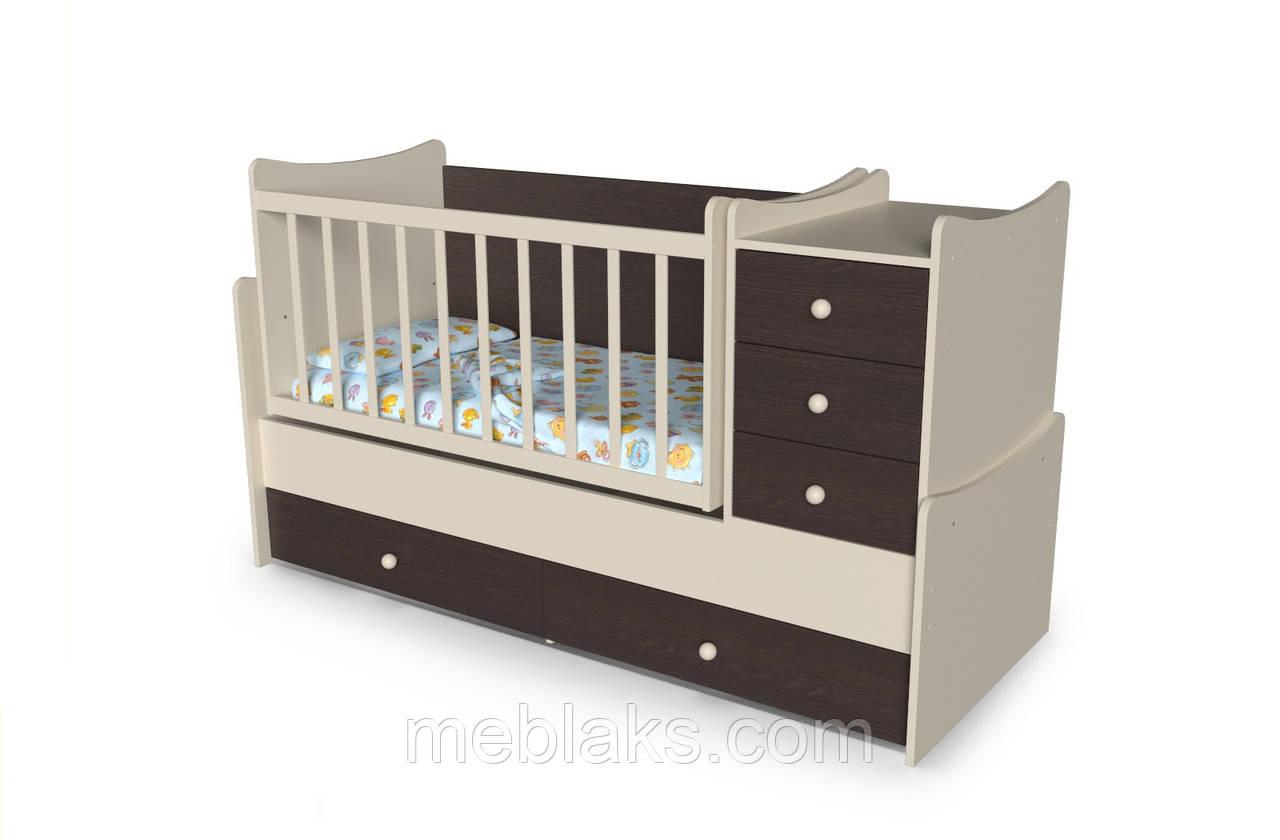 """Кровать детская многофункциональная  4 в 1  """"Панда"""" от 0 до 15 лет"""