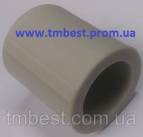 Муфта 20*20 мм соединительная полипропиленовая ППР, фото 2