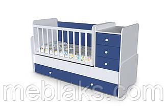 """Детская кроватка+трансформер с пеленальным столиком   """"Шоколадка"""" от 0 до 15 лет, фото 3"""