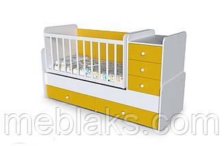 """Детская кроватка+трансформер с пеленальным столиком   """"Шоколадка"""" от 0 до 15 лет, фото 2"""
