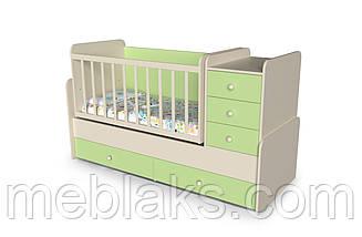 """Кроватка-Трансформер  с пеленальным столиком  """"Шоколадка"""" от 0 до 15 лет, фото 3"""
