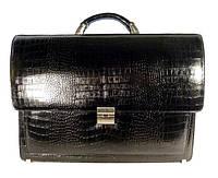 Портфель кожаный мужской классический Desisan 216-11 черный