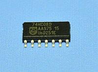 Микросхема 74HC08D(smd)  so14  Philips