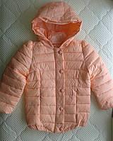 РАСПРОДАЖА! Демисезонная куртка для девочки 5-6 лет. Персик
