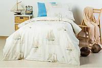 Детское полуторное постельное белье Корабли