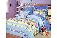 Детское полуторное постельное белье Паровоз