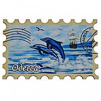 """Магнит на холодильник №7 - марка """"Дельфины и корабль"""" Одесса"""