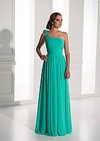 Поразительное  вечернее платье на одно плечо с красивым моделирующим корсетом