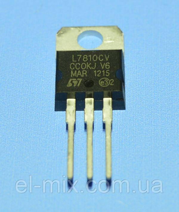 Микросхема 7810 (L7810CV) (dual)  TO-220  STM