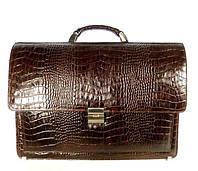 Портфель кожаный мужской классический Desisan 216-19 коричневый