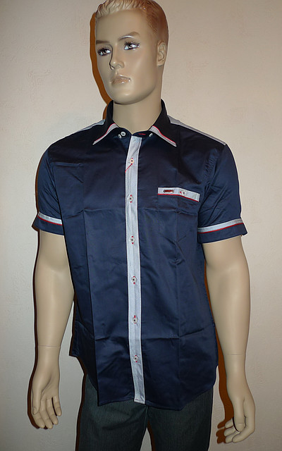 Синяя модная рубашка Mondo