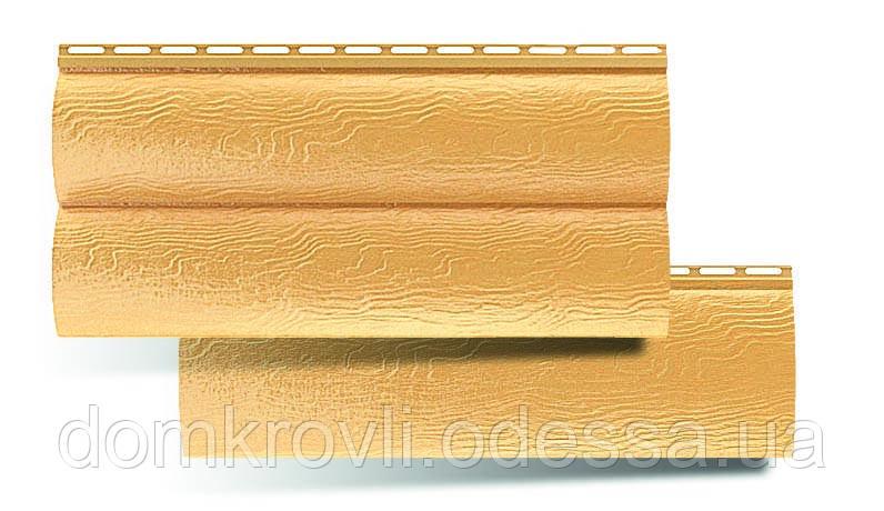 Виниловый сайдинг блок хаус золотистый