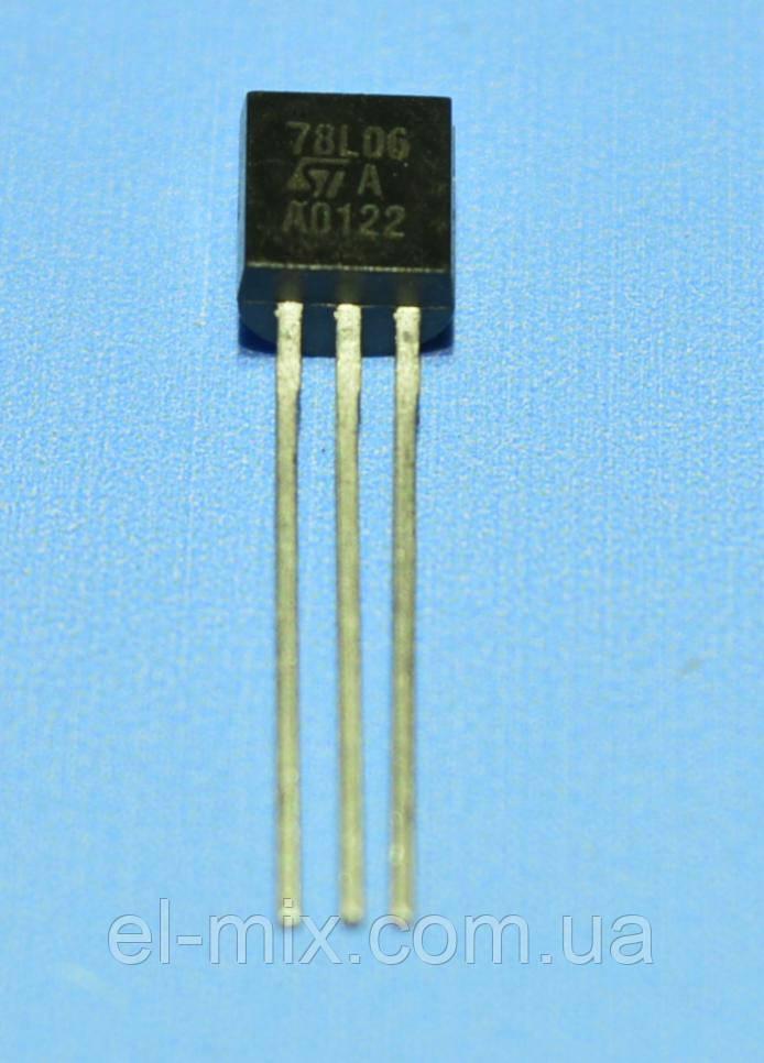 Микросхема 78L06ACZ  ТО-92  STM