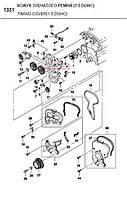 Кожух задний зубчатого ремня Nexia 1,5 , LANOS 1.6 DOHC GM Корея (ориг) 96184800