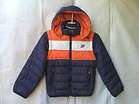 Куртка ветровка (съемный рукав) для мальчика 7-10 лет,темно синяя