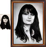 Портреты сухой кистью