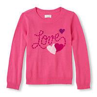 Вязаный пуловер для девочки The Children's Place; 5-6 лет