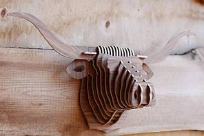 Интерьерная голова быка 3D пазл