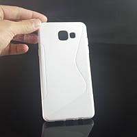 Силиконовый чехол Duotone для Samsung Galaxy A3 A310f 2016 белый, фото 1