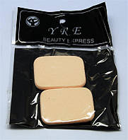 Спонжики желтые 2 шт в упаковке SP-01, спонжики YRE, спонж