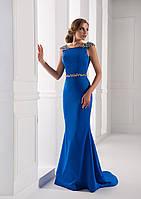 Несравненное вечернее платье с открытой спинкой, украшенное океаном бусин с волшебным шлейфом