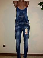 Комбинезон женский джинсовый ELL с латками, фото 1