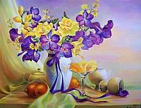 """Набор алмазной вышивки (мозаики) """"Натюрморт с орхидеями"""". Художник Мария Гапен"""