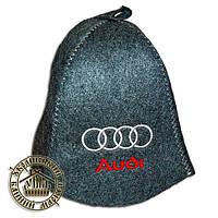"""""""Audi"""", шапка для бани (Э), серая"""