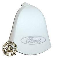 """""""Ford"""", шапка для бани (Э), белая"""
