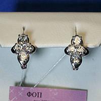 Детские серьги серебро с фианитами Кристина 5892-р