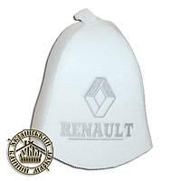 """""""RENAULT"""" / """"Рено"""", шапка для бани (Э), белая"""
