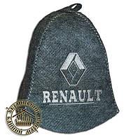 """""""RENAULT"""" / """"Рено"""", шапка для бани (Э), серая"""