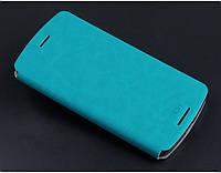 Шкіряний чохол книжка MOFI для Lenovo K4 Note блакитний, фото 1