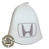 """HONDA"" / ""Хонда"", шапка для бани (Э), белая"