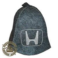 """""""HONDA"""" / """"Хонда"""", шапка для бани (Э), серая"""