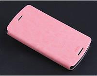 Кожаный чехол книжка MOFI для Lenovo K4 Note розовый